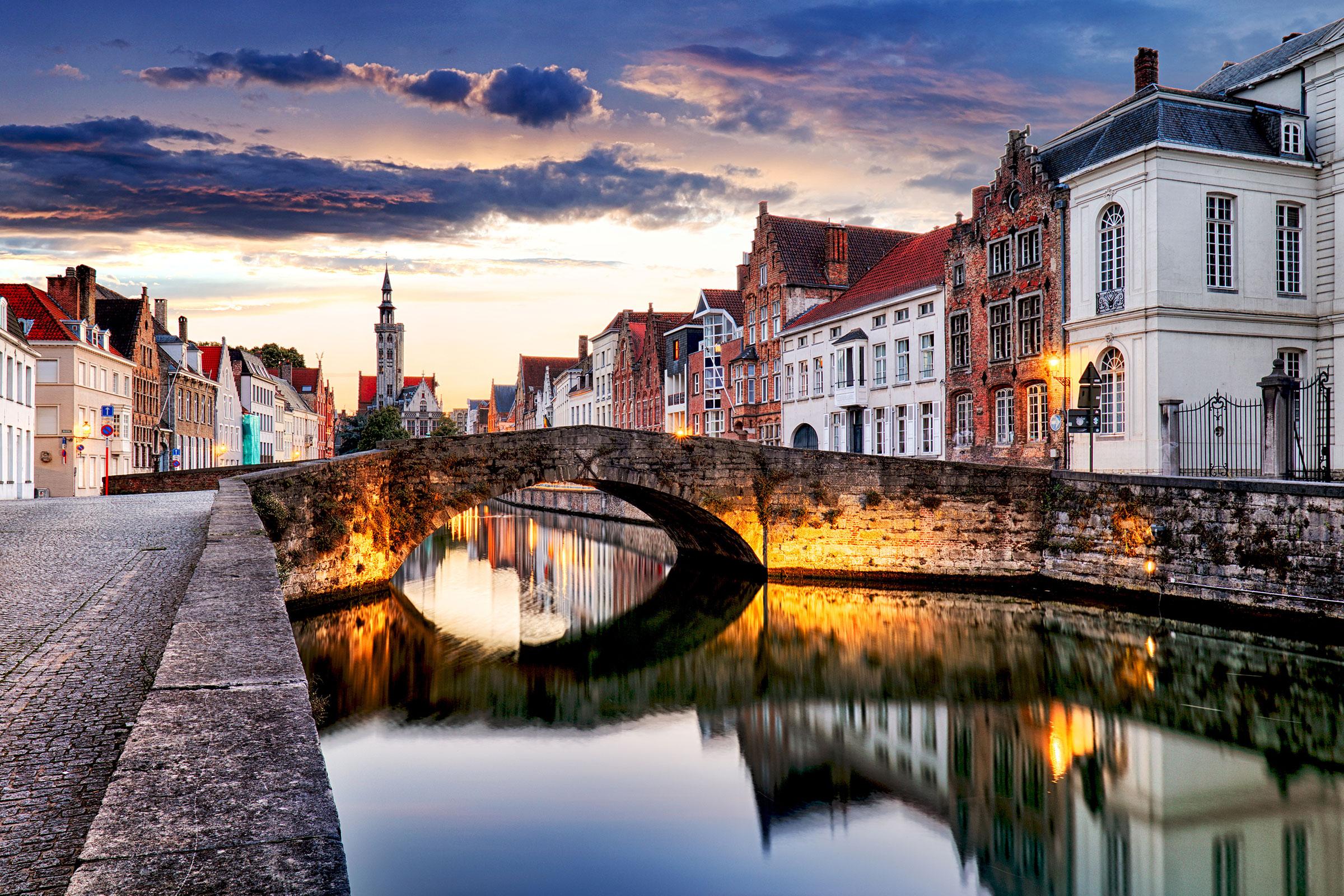 Bruges cityscape Belgium