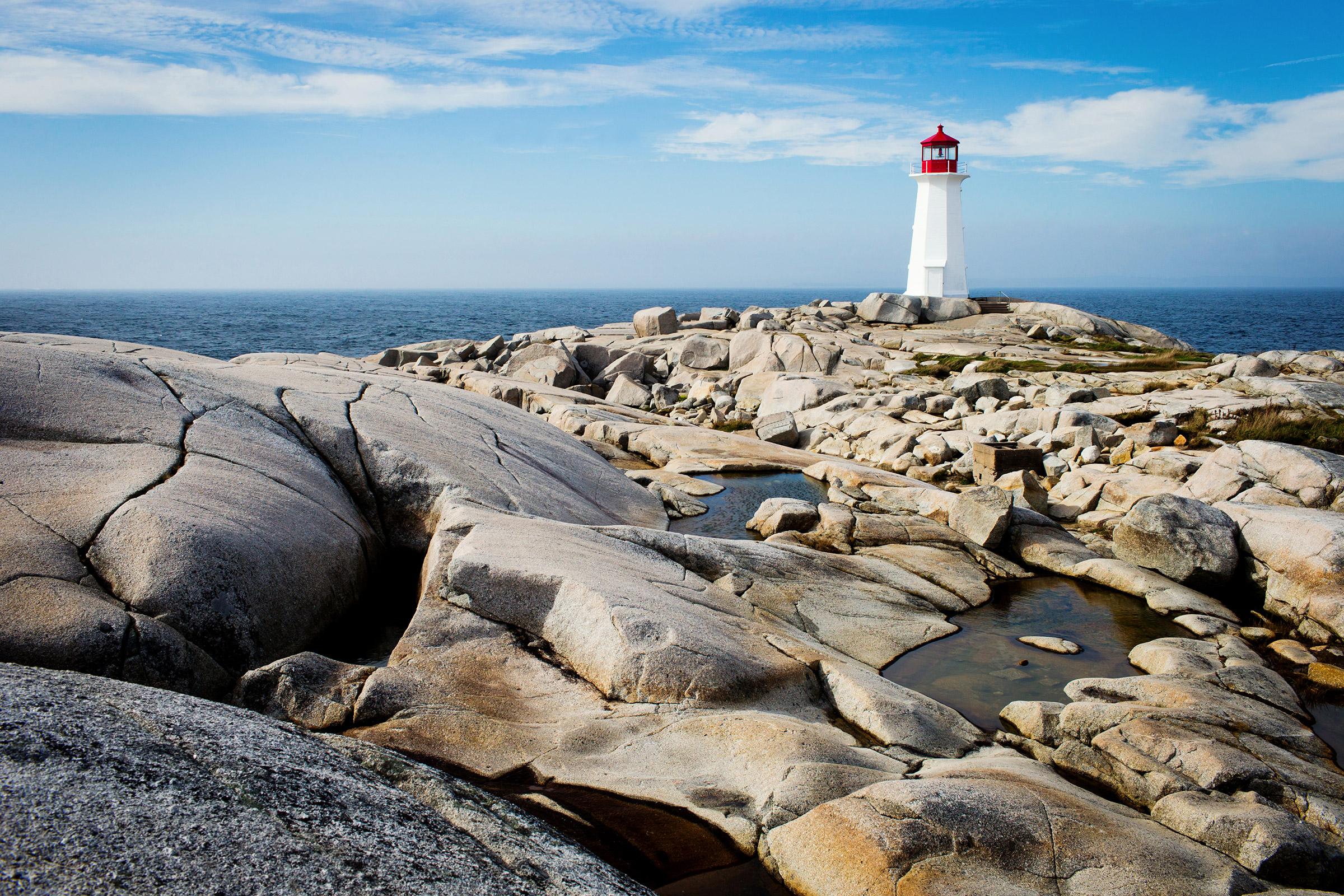 Canada Nova Scotia Peggys Point Lighthouse
