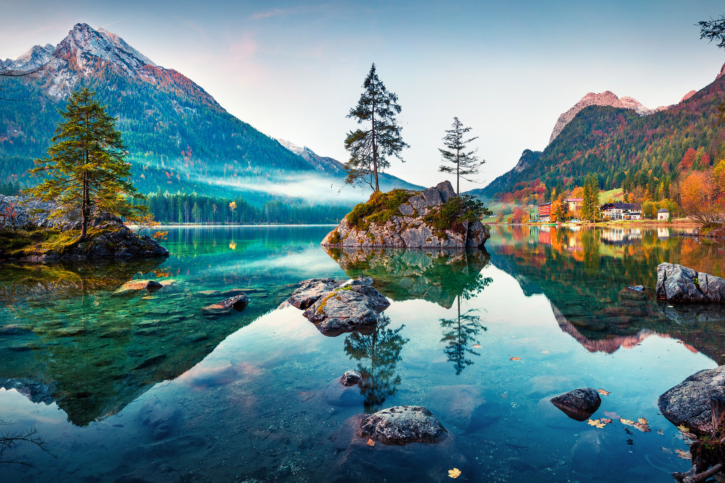 Germany Bavarian Alps Hintersee Lake