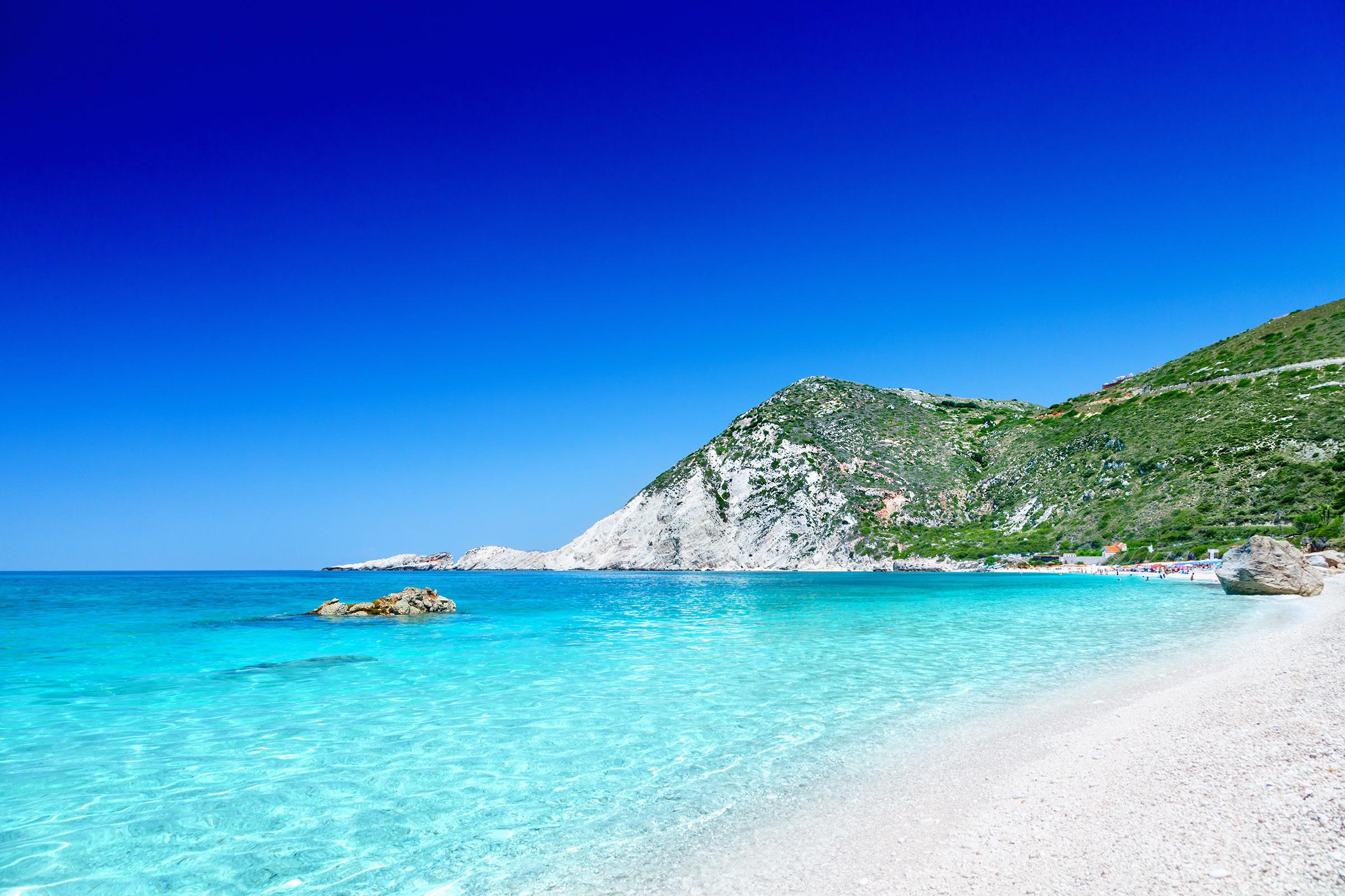 Greece Kefalonia Petani Beach