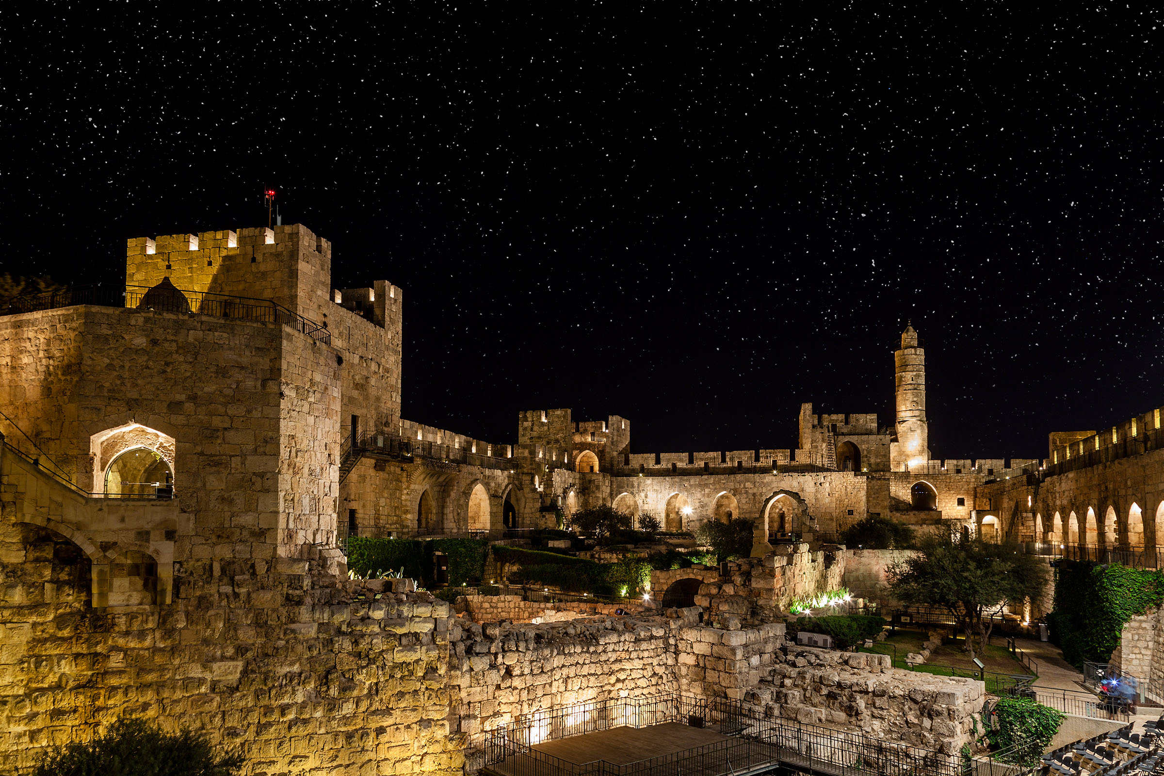 Israel Jerusalem at Night