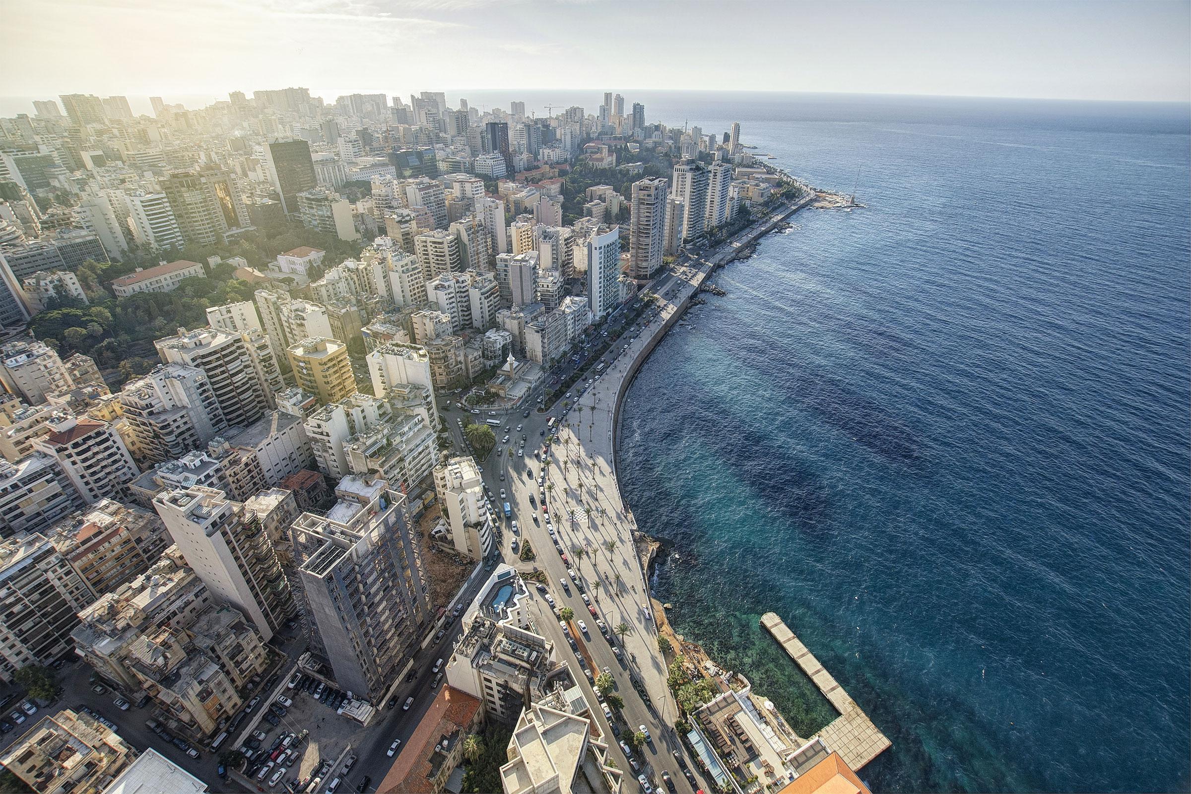 Aerial View of Beirut Lebanon
