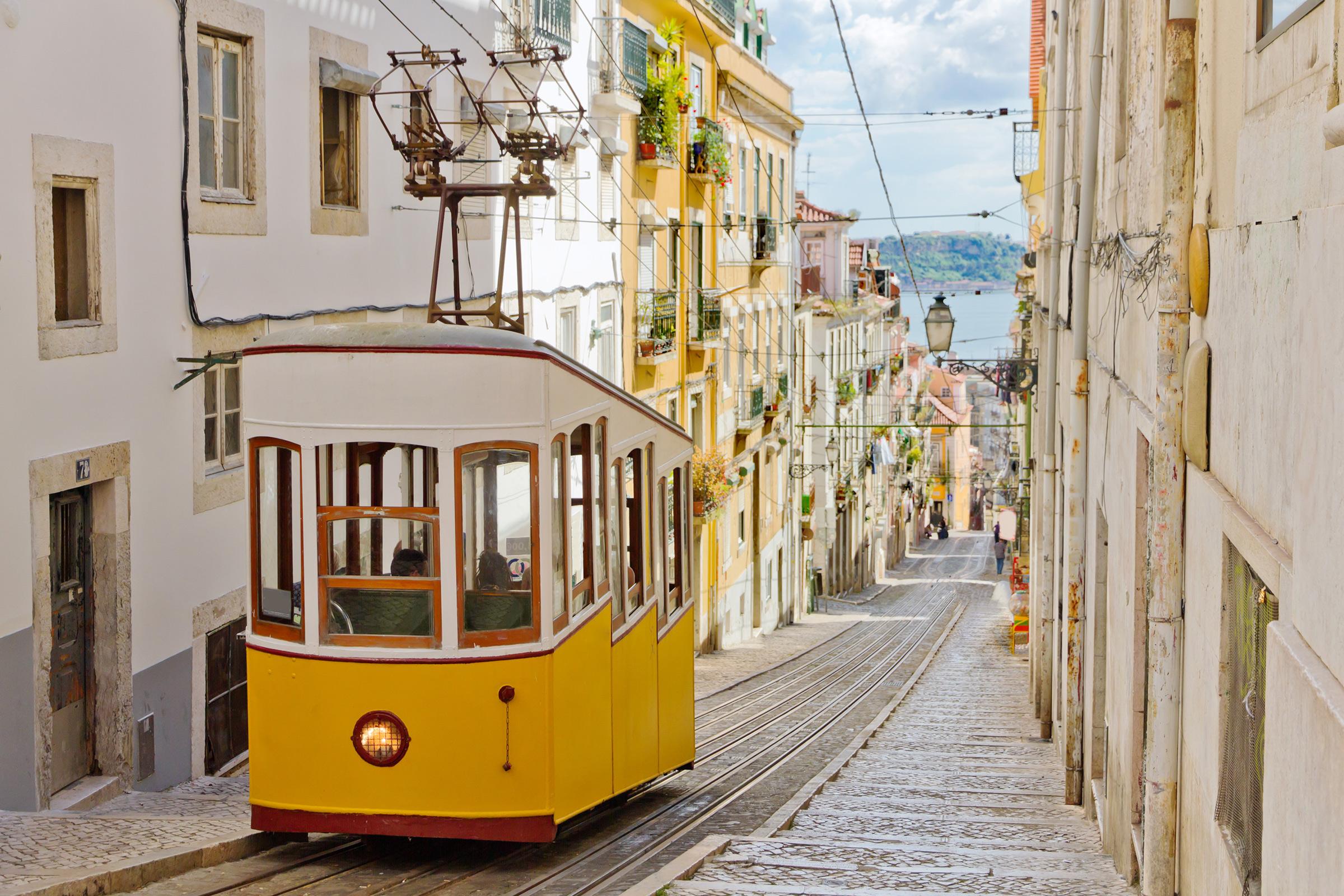 Portugal Lisbon Glória Funicular
