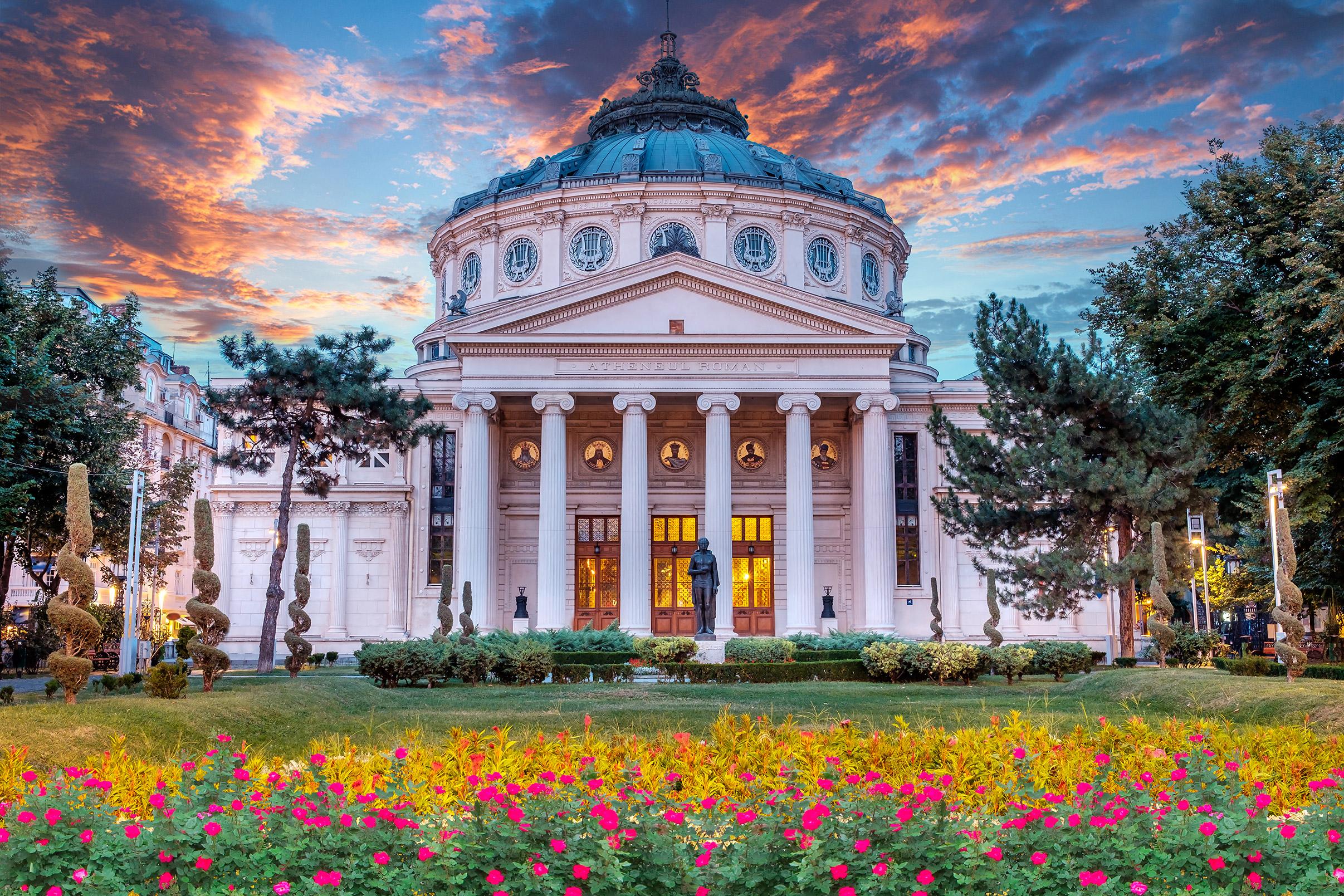 Romania Bucharest Romanian Athenaeum
