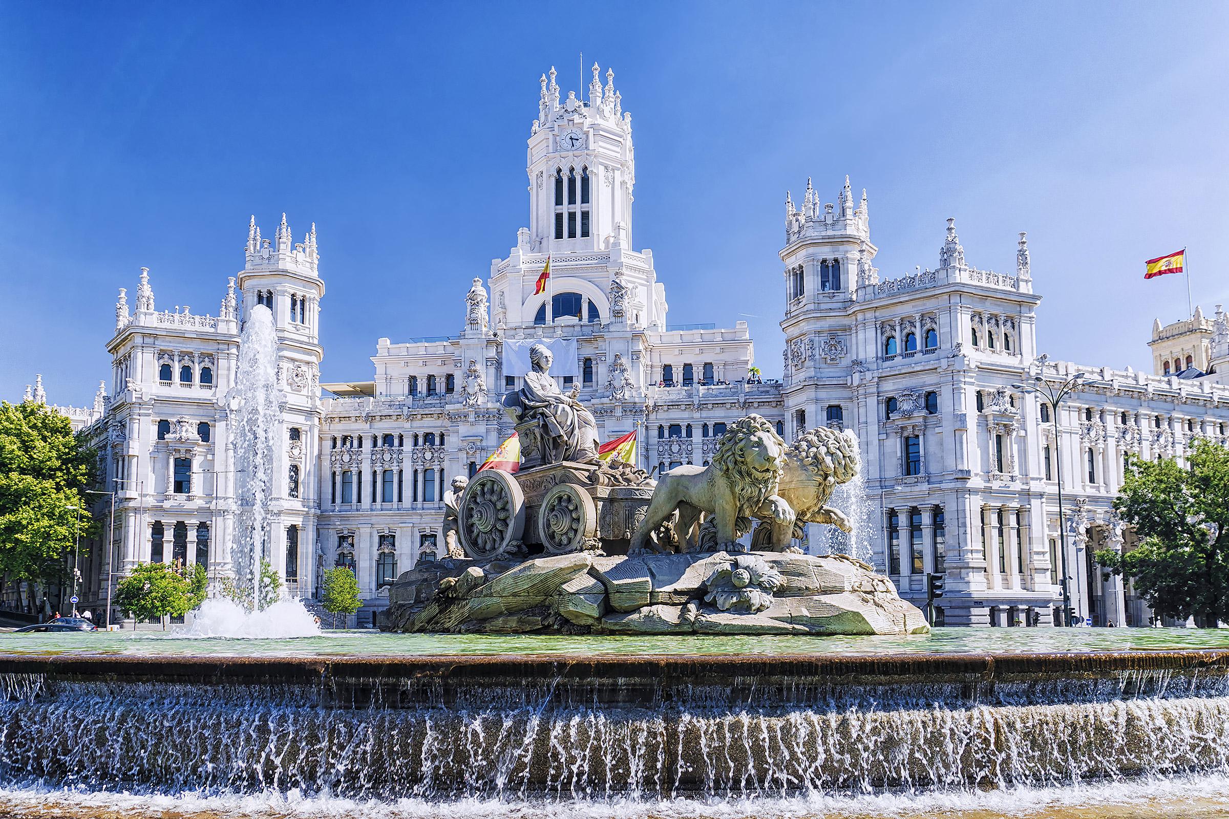 Spain Madrid Plaza de Cibeles