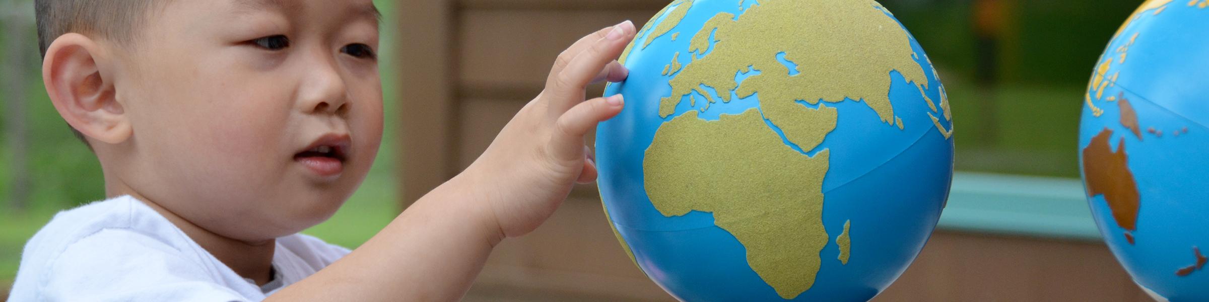 Find Your Country Montessori Sandpaper Globe