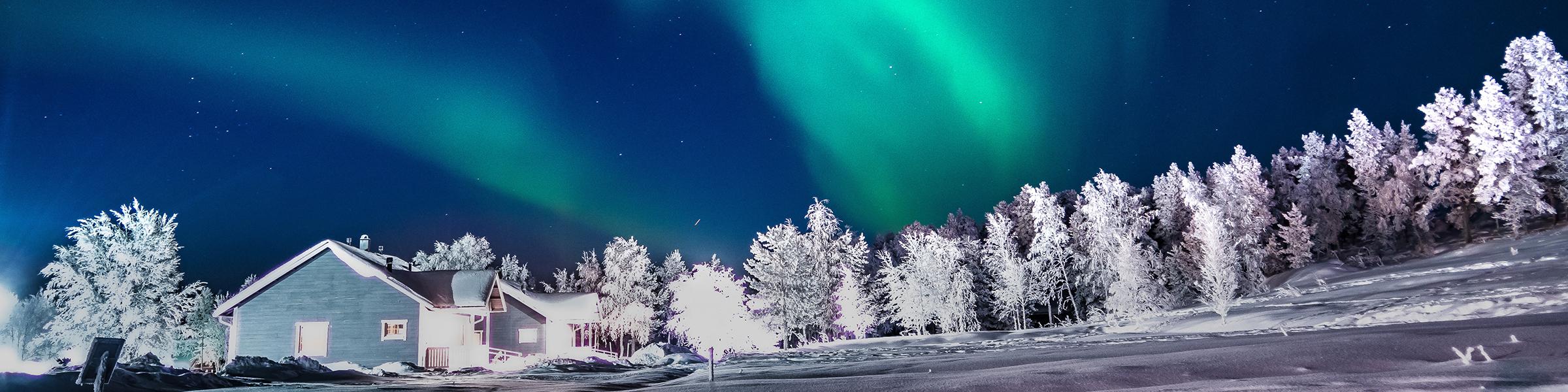 Finland Aurora Borealis in Lapland