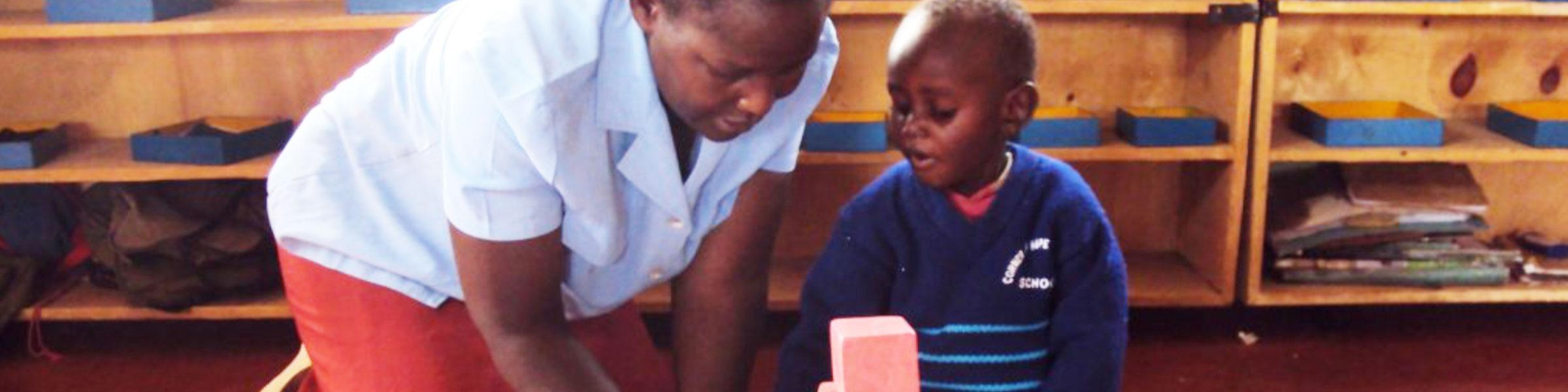 East Pokot Montessori Teacher and Child