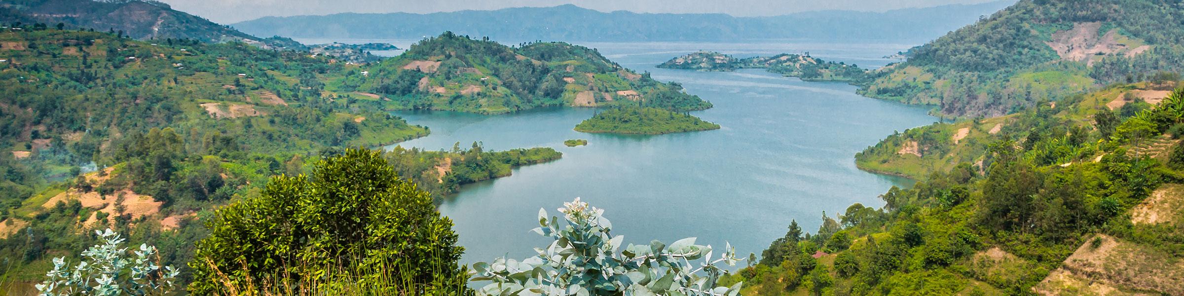Panoramic view of Lake Kivu, Rwanda