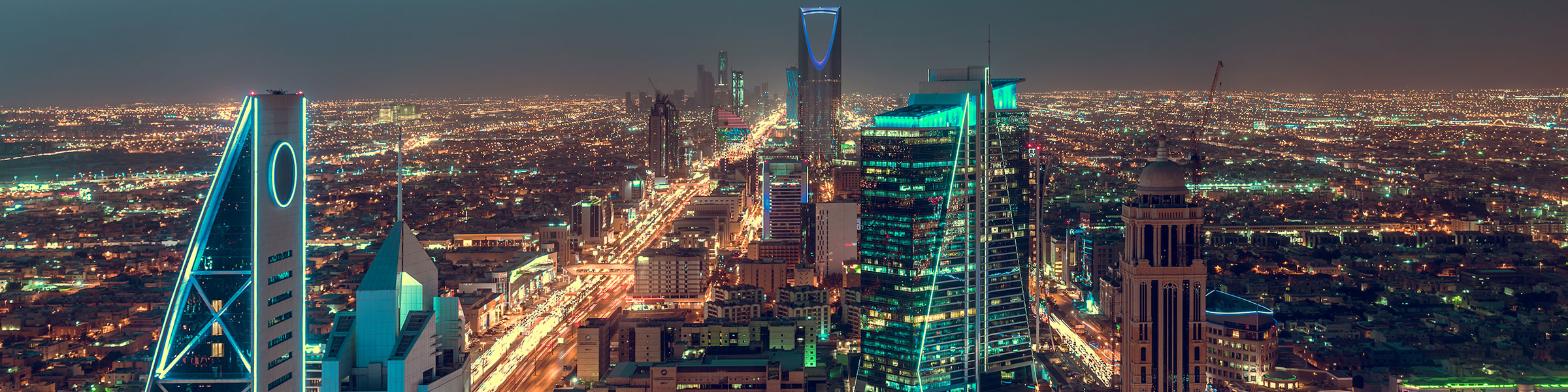 Saudi Arabia Riyadh landscape at night