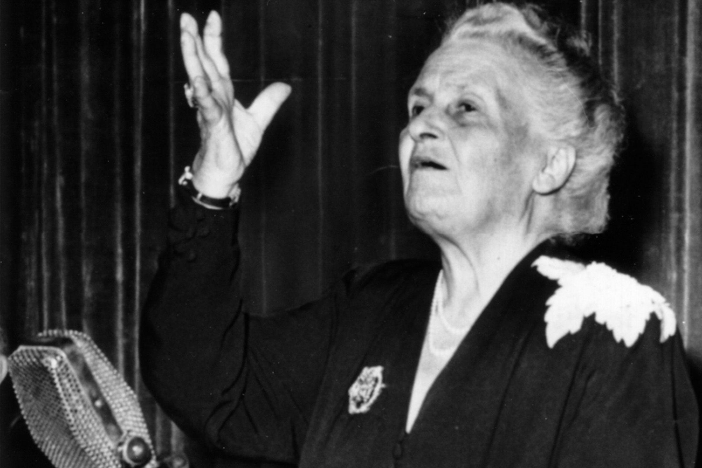 Maria Montessori 1949