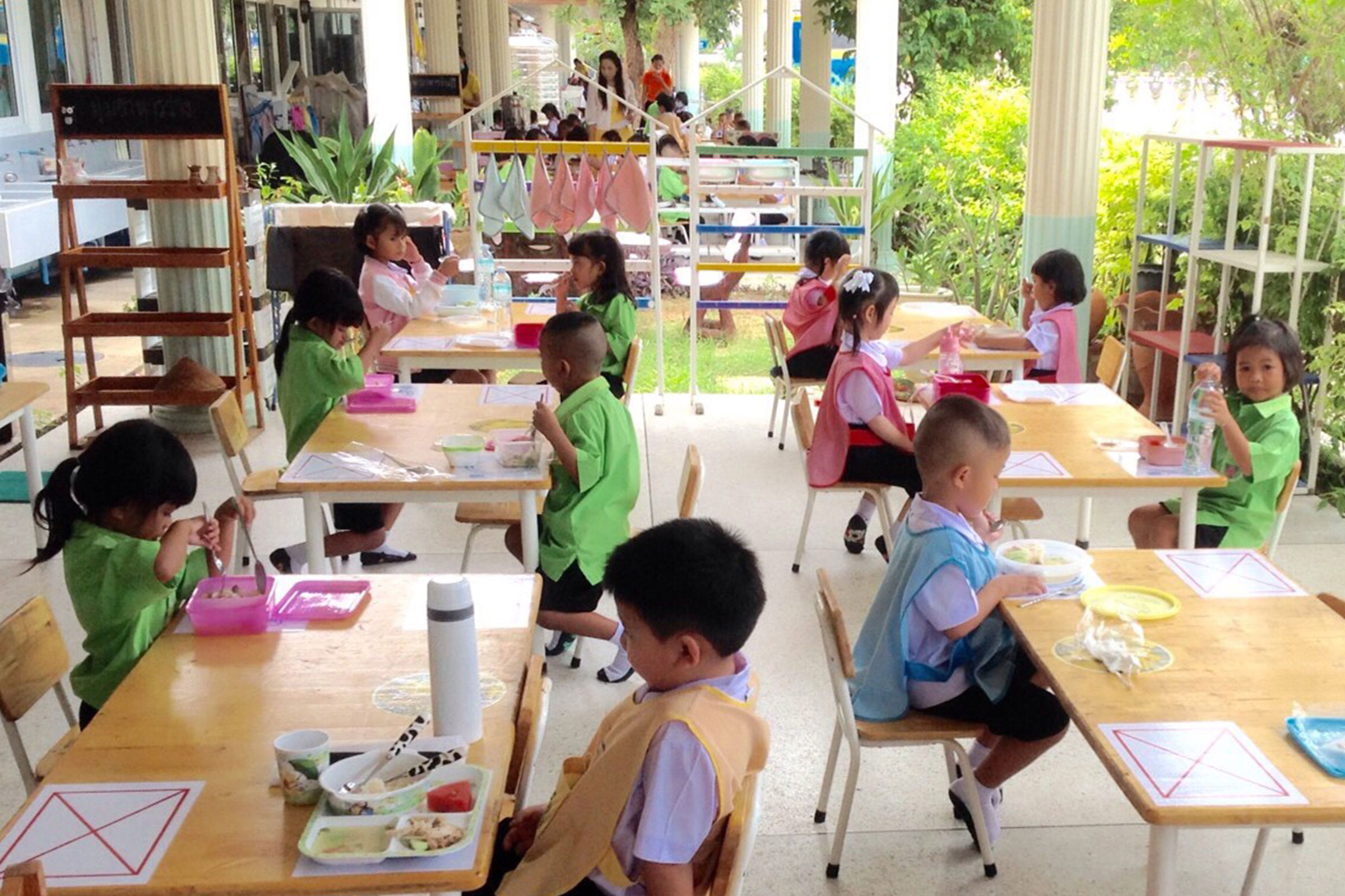 School Children Eating Thailand