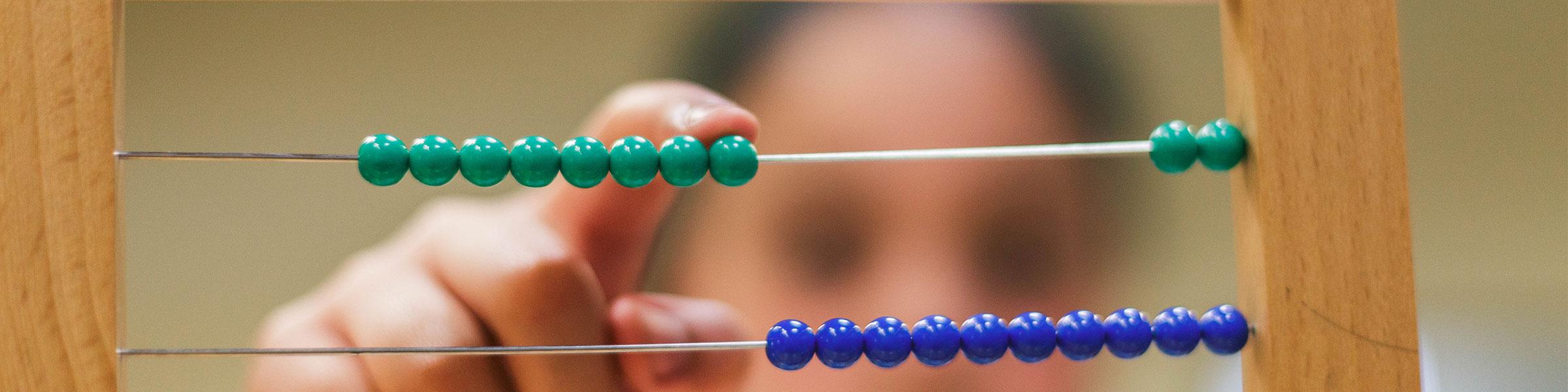 Montessori abacus material