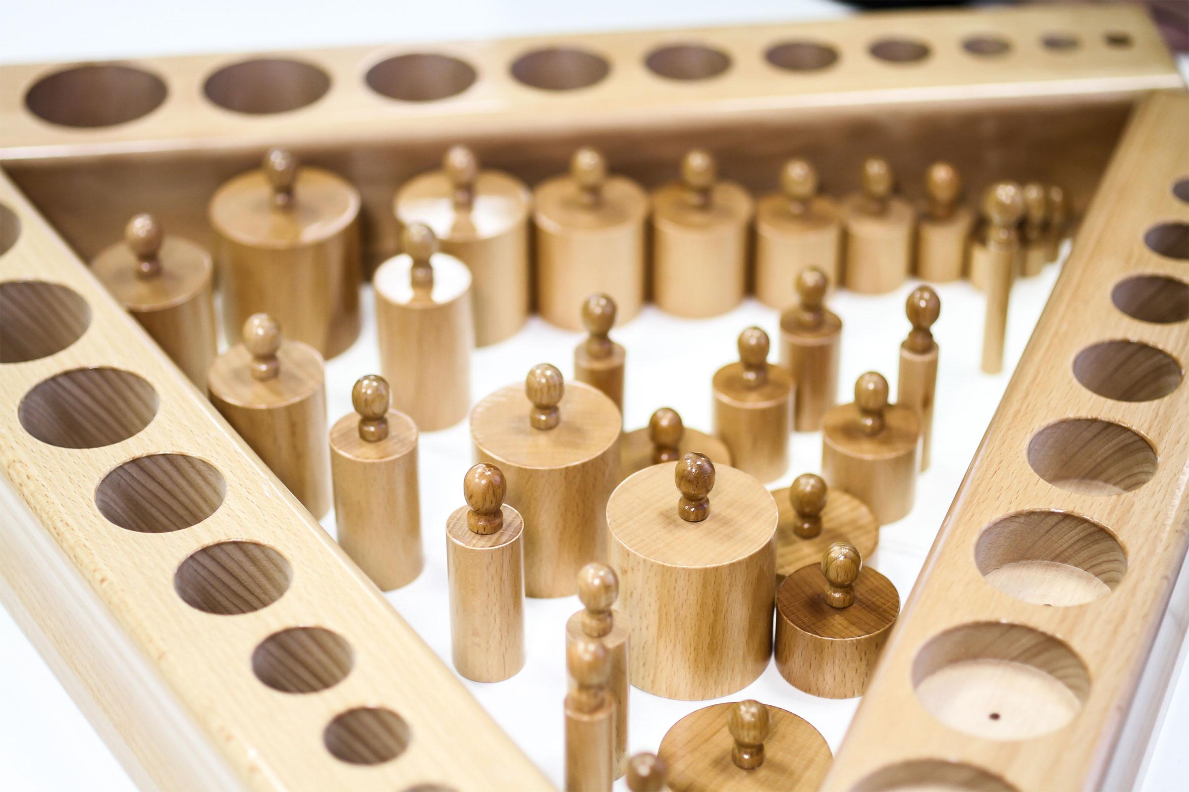 Montessori Cylinder Blocks material