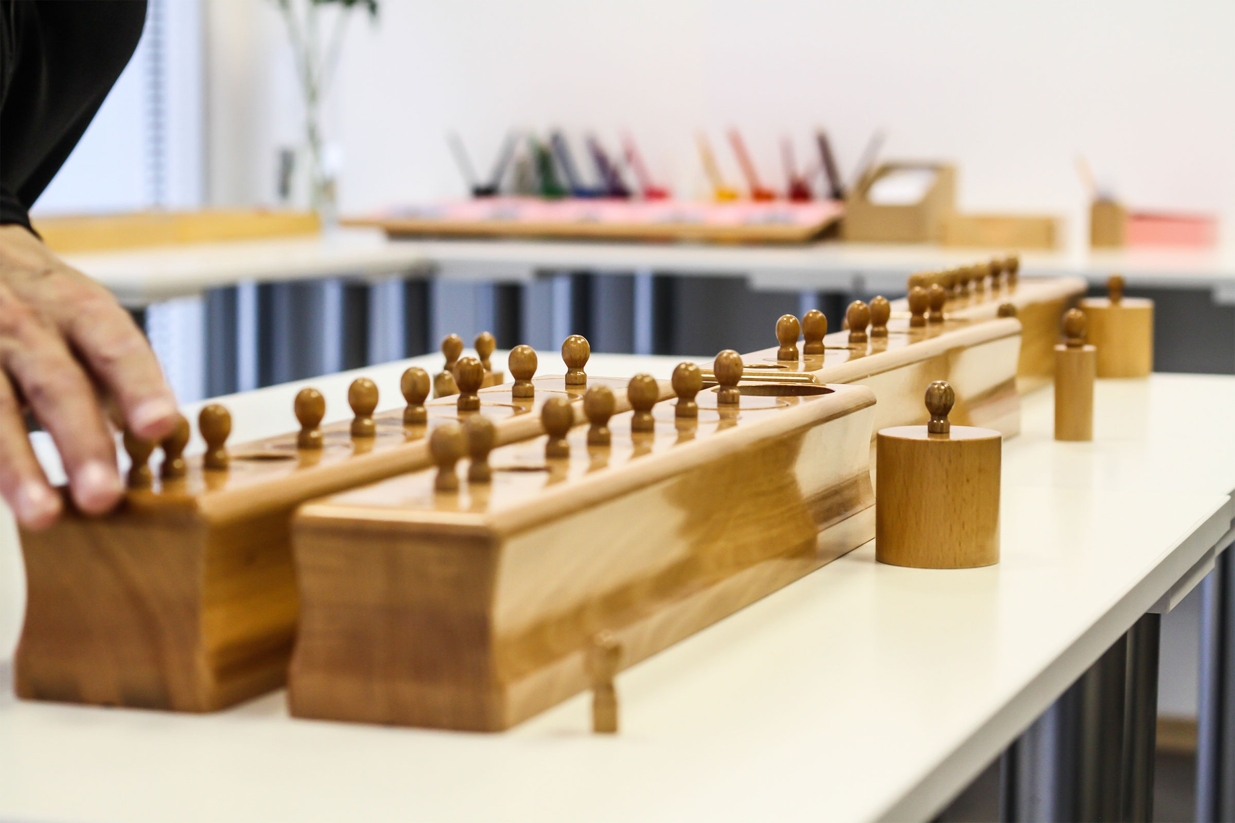 Montessori materials - cylinder blocks
