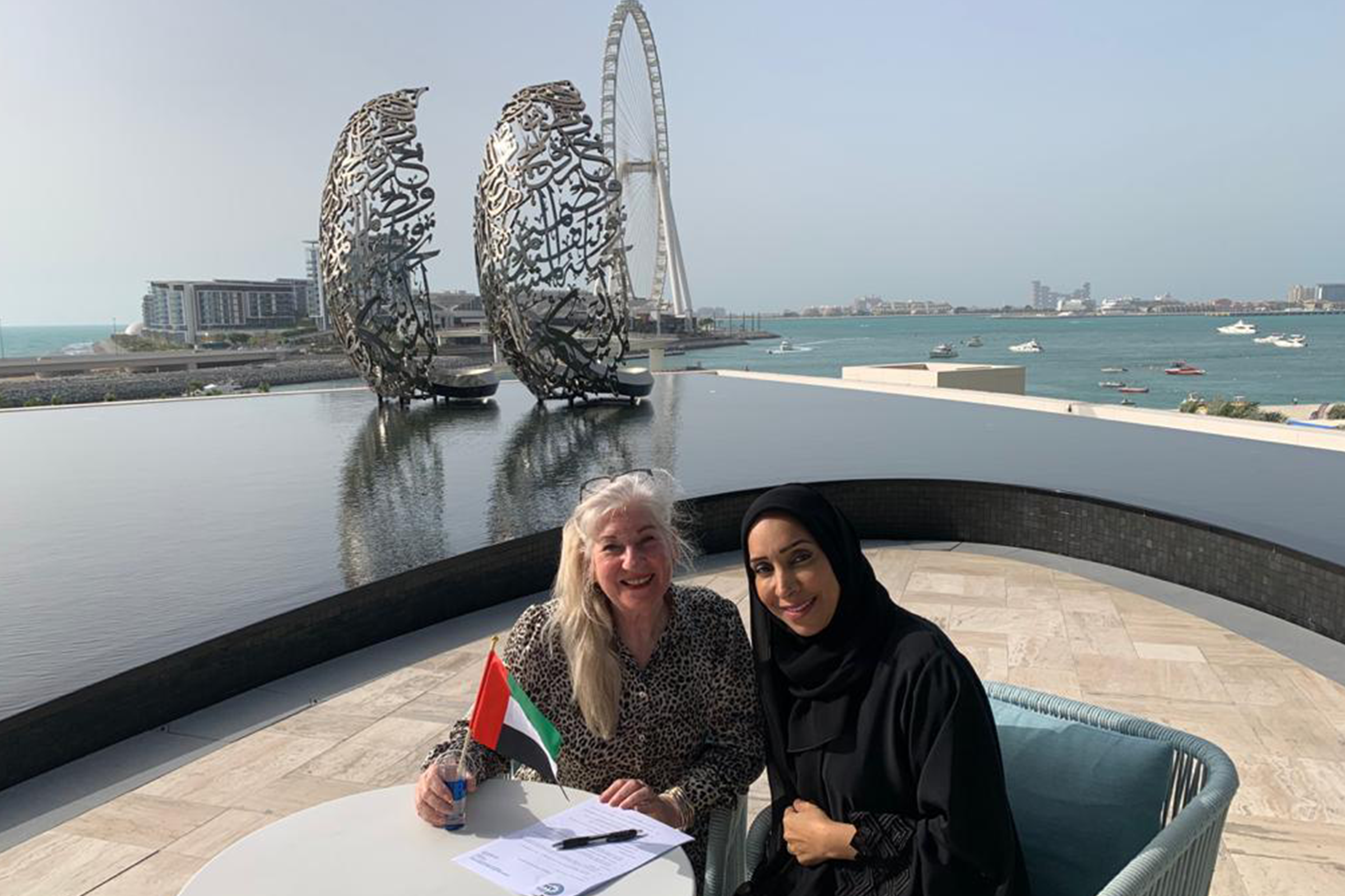 Sueyan McPherson and Marwa al Quibaisi United Arab Emirates Montessori Association