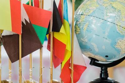 Montessori set of flags classroom materials
