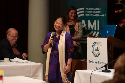 Kannekar Butt invites the AGM attendees to attend the 2021 International Congress in Thailand