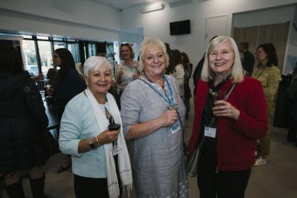 Christine Harrison, AMI Board Member; Anne Kelly, Director of Montessori Ageing and Dementia, Lucie Meijer, retired AMI Office Manager.