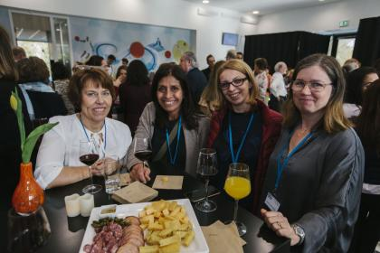 A few members from the Swedish affiliate gathered together during the Welcome Reception.