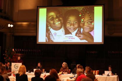 Lyda Zapata presents the work and future plans for Montessori Ecoeducative Foundation of Colombia